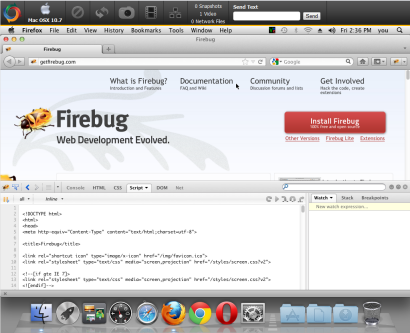 Using builtin debugging tools